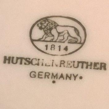 vintage german hutschenreuther cream porcelain plate. Black Bedroom Furniture Sets. Home Design Ideas