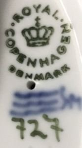 royal copenhagen second quality marks