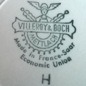 Villeroy Und Boch Mettlach porcelain and pottery marks