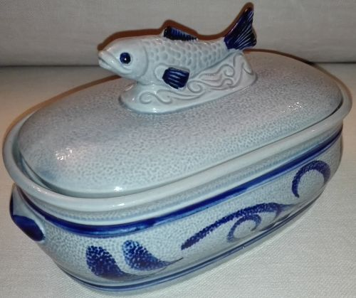German Gerz stoneware fish terrine