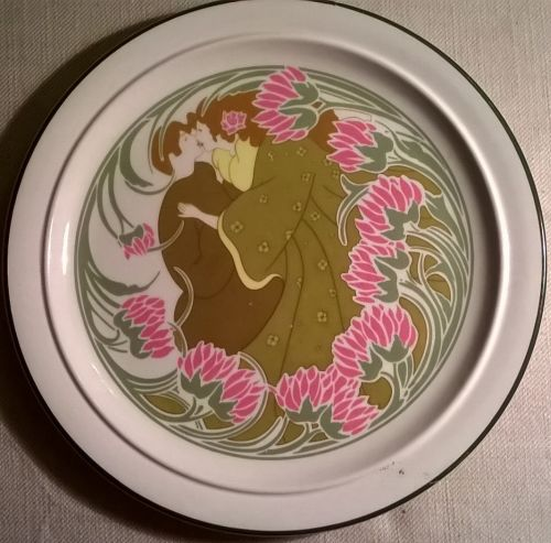 Keller and Guerrin art nouveau plate