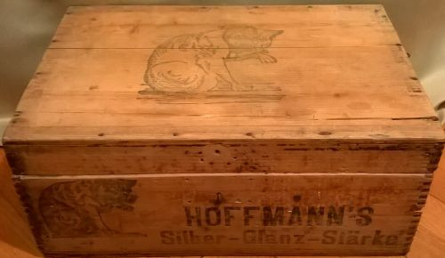 Hoffmann's starch factory wooden box
