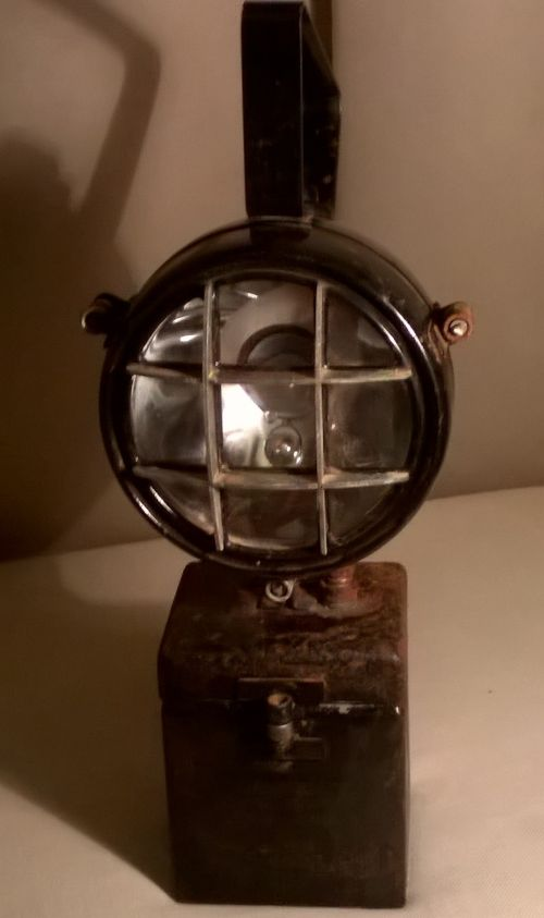 Vintage motorcycle headlight torch or lantern