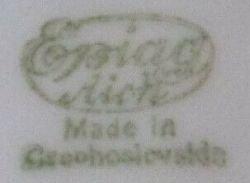 Pottery marks czechoslovakia Pottery Marks