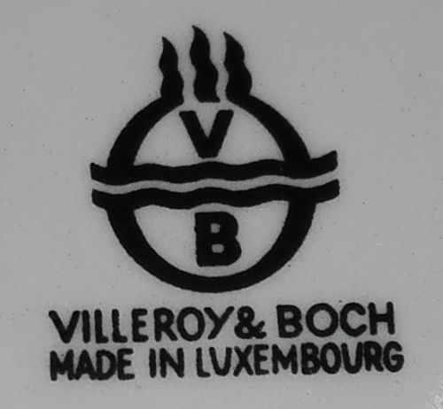 villeroy boch 1960s made in luxembourg mark