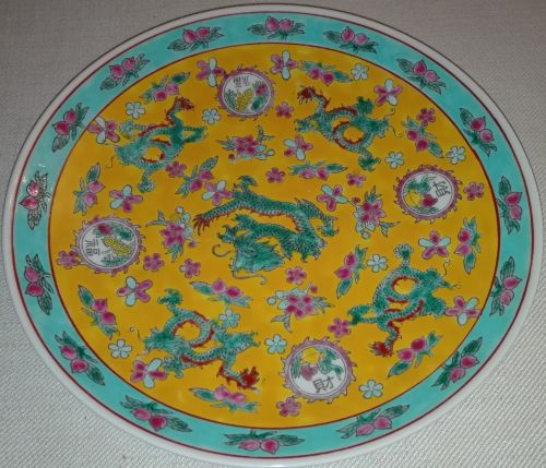 Chinese five-claw dragon plate