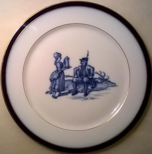 Rare Meissen scenic hunting plate