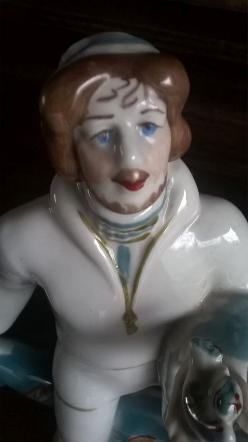 Polonne fisherman porcelain figurine
