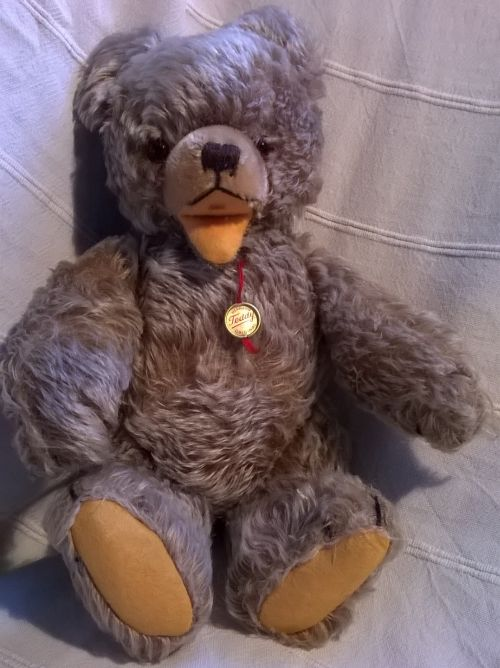 Original 1970s Hermann open mouth teddy bear